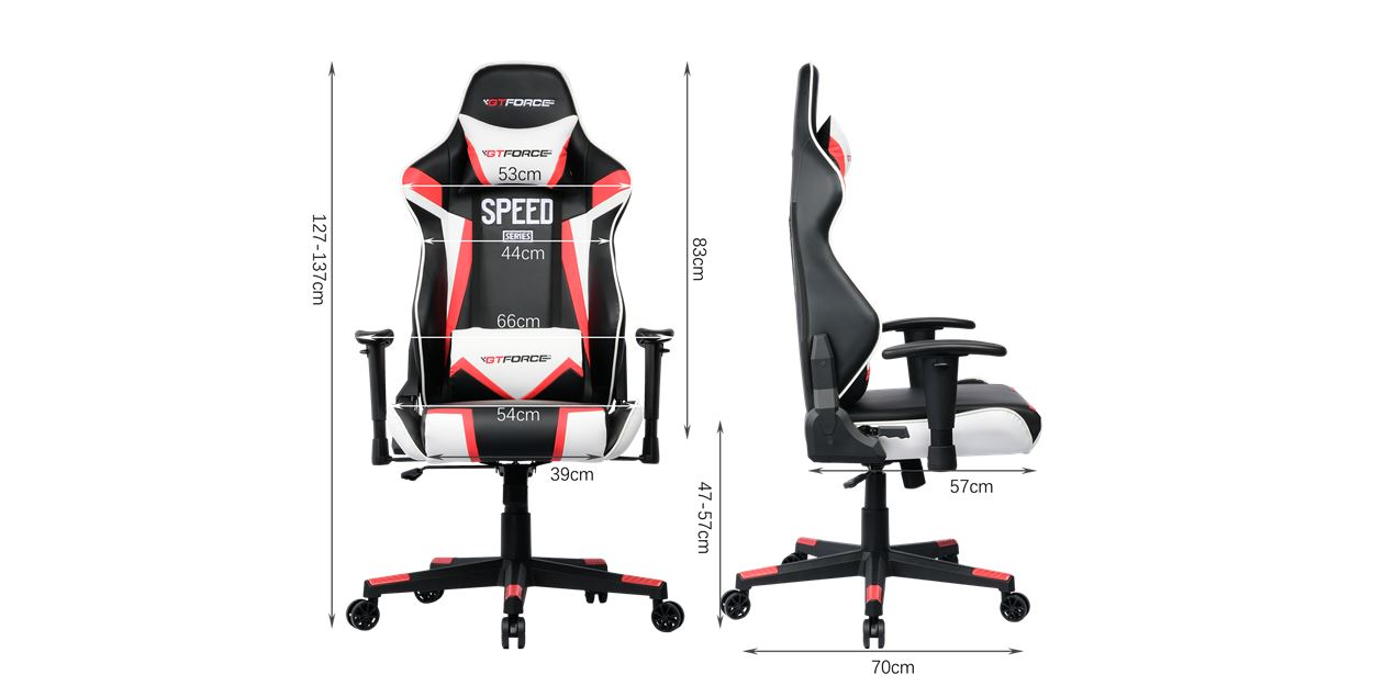 GTForce Speed FS Gaming Chair in Red IMG