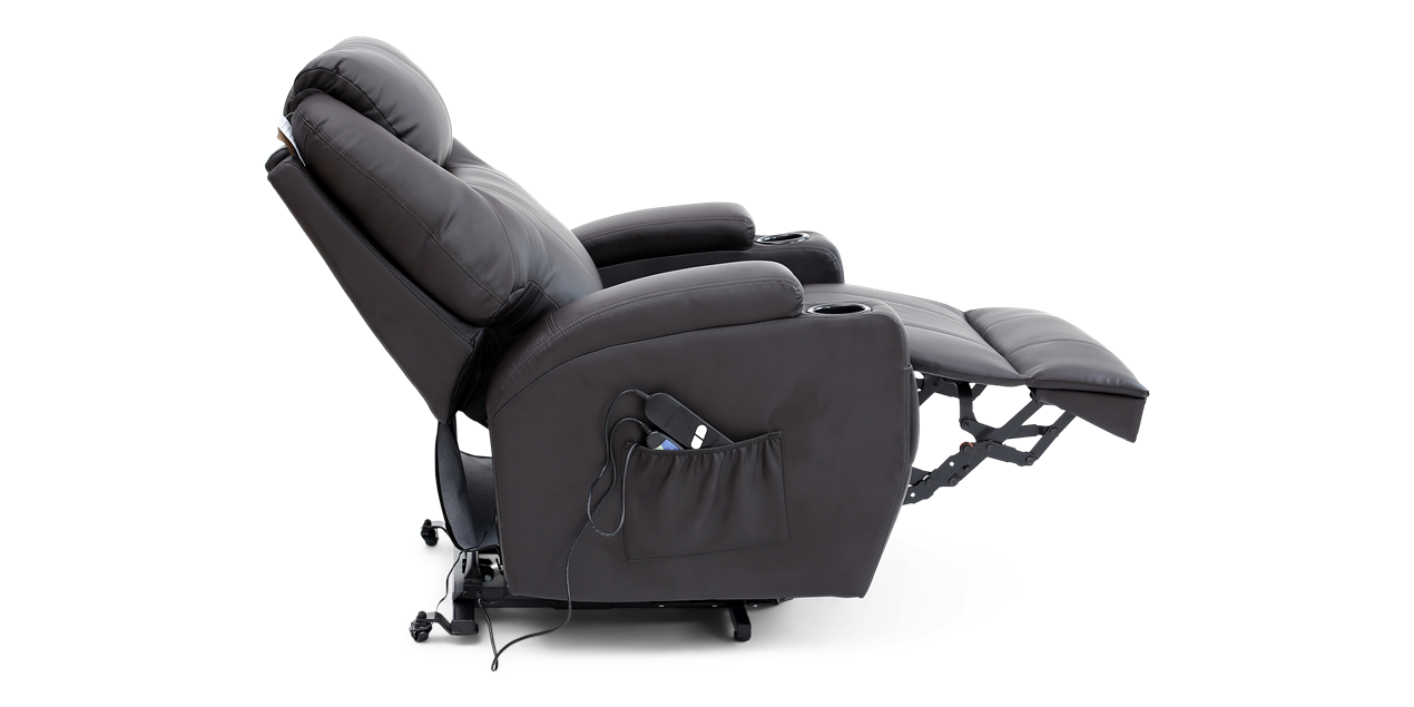 Cinemax Rise Recliner Chair With Massage And Heat In Brown IMG 3 (1270 X 635