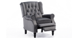 Ascott Recliner Armchair in Velvet Slate Grey 4