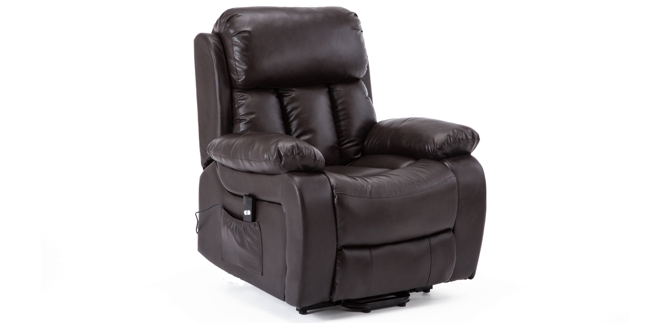Salisbury Rise Recliner Chair with Massage and Heat in Brown IMG