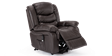Cheshire Leather Rise Recliner Chair in Brown Image 4