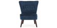 Aylenne Accent Chair in Midnight Blue Velvet Image 1