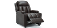 Attenborough Compact Push Back Leather Recliner Chair in Brown Image 5