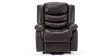 Cheshire Leather Rise Recliner Chair in Brown Image 1