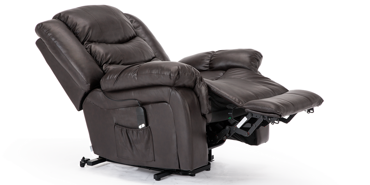 Cheshire Leather Rise Recliner Chair in Brown IMG