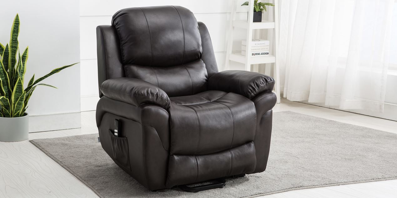 Terrific Richmond Dual Motor Rise Recliner Leather Chair In Brown Gmtry Best Dining Table And Chair Ideas Images Gmtryco
