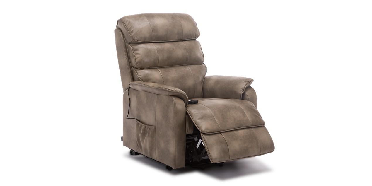 Marlow Rise Recliner in Stone IMG