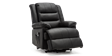 Wilson Rise Recliner Leather Chair in Black Image 3