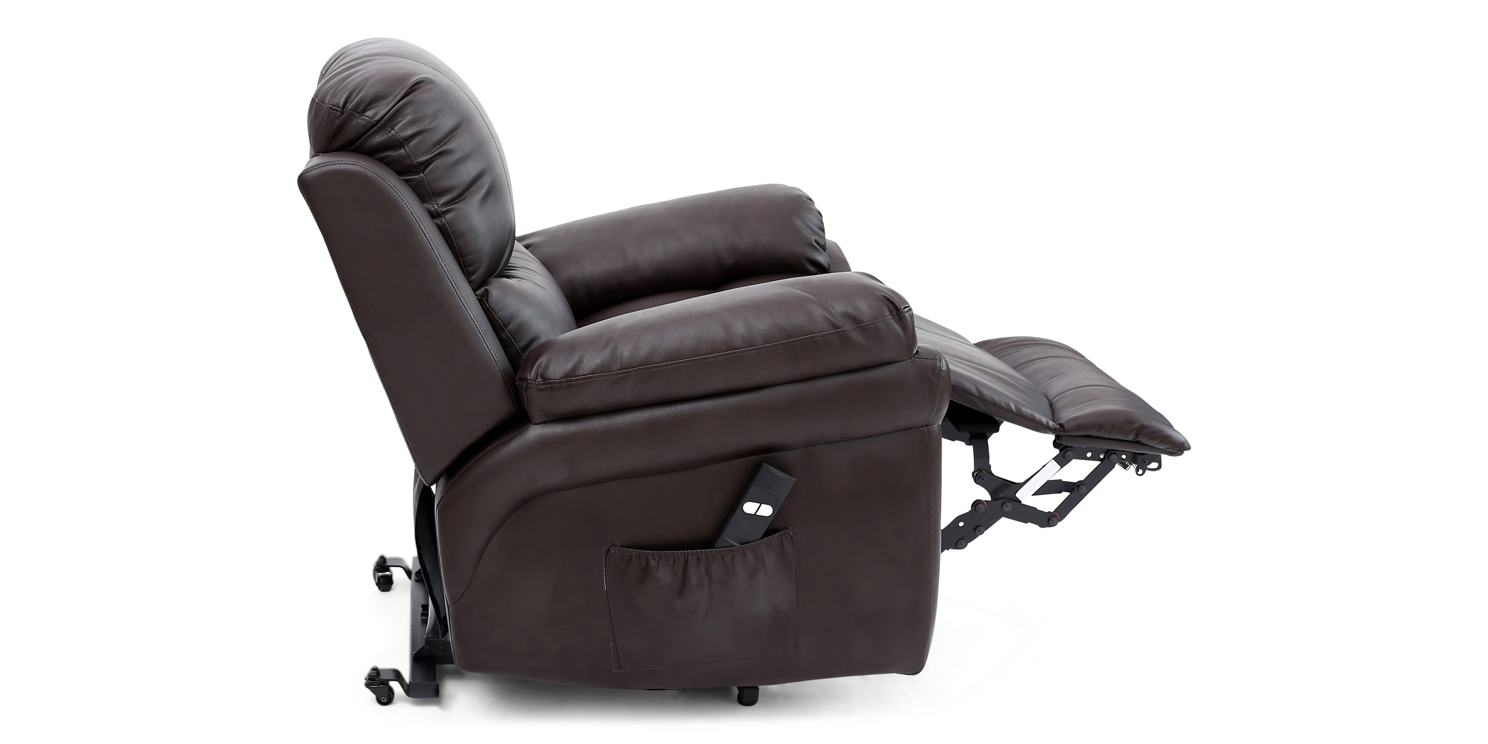 Richmond Rise Recliner Leather Chair In Brown