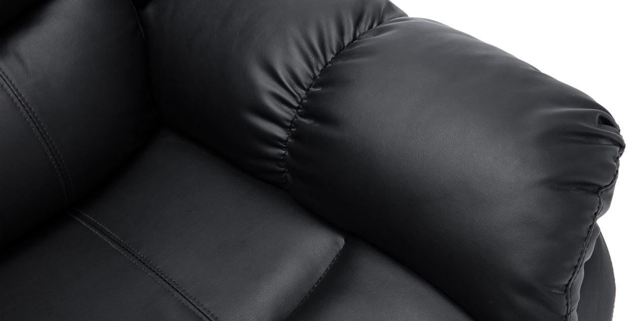 Cheshire Electric 2 Seater Leather Recliner Sofa in Black IMG
