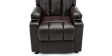 Attenborough Compact Push Back Leather Recliner Chair in Brown Image 2