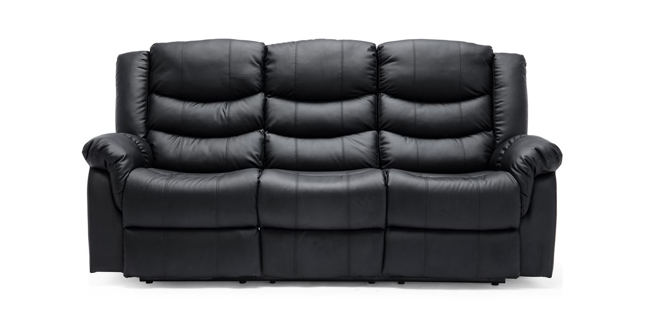 Peachy Cheshire Electric 3 Seater Leather Recliner Sofa In Black Spiritservingveterans Wood Chair Design Ideas Spiritservingveteransorg