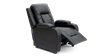 Cameron Leather Push Back Recliner Chair in Black Image 5