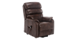Marlow Leather Rise Recliner Chair in Brown Image 3
