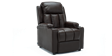 Attenborough Compact Push Back Leather Recliner Chair in Brown Image 3