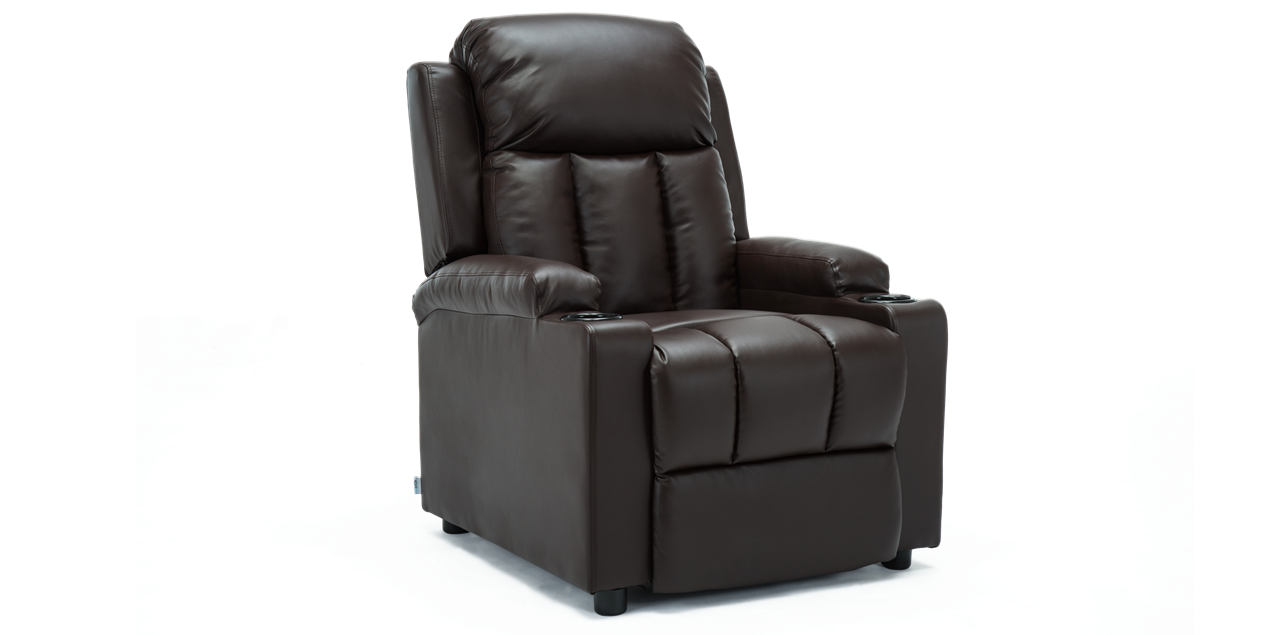 compact recliner chair. Attenborough Compact Push Back Recliner Chair In Brown IMG 0 (1270 X 635 )