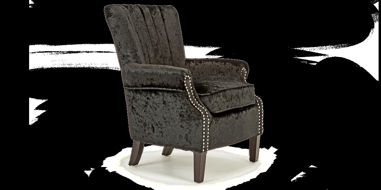 Orlenca Accent Chair In Black Crushed Velvet