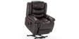 Cheshire Leather Rise Recliner Chair in Brown Image 6