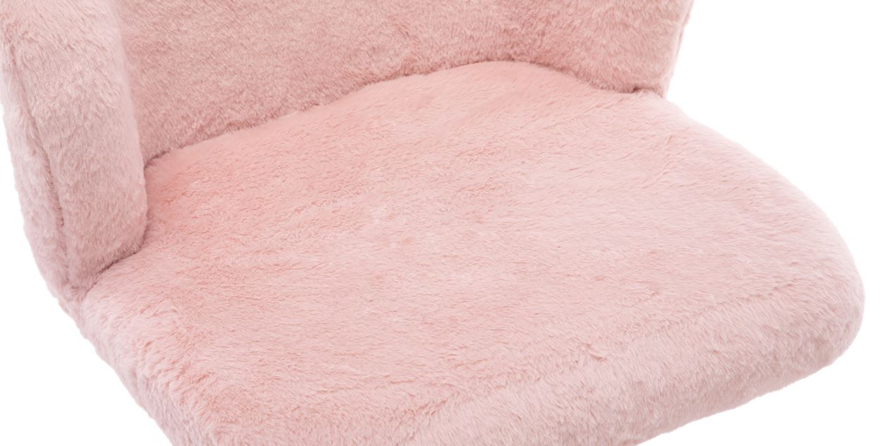 Frances Faux Fur Office Chair in Pink IMG