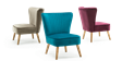 Lydia Accent Chair in Purple Velvet Image 7
