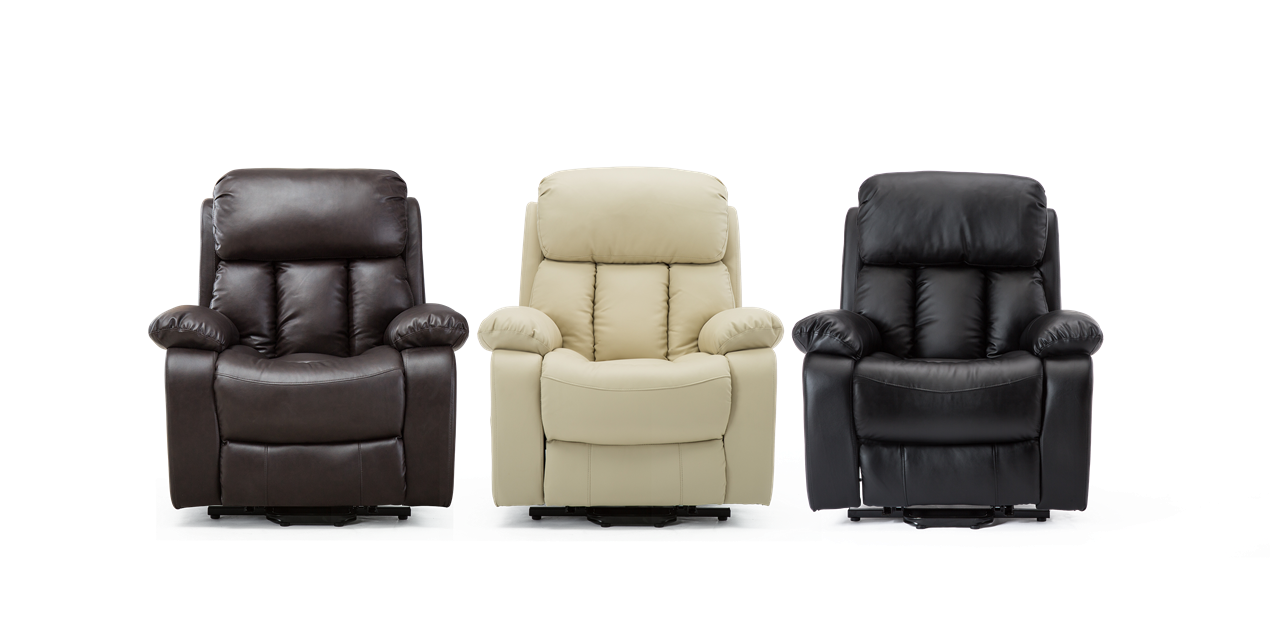 Salisbury Leather Rise Recliner Chair With Massage And