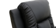 Cameron Leather Push Back Recliner Chair in Black Image 1