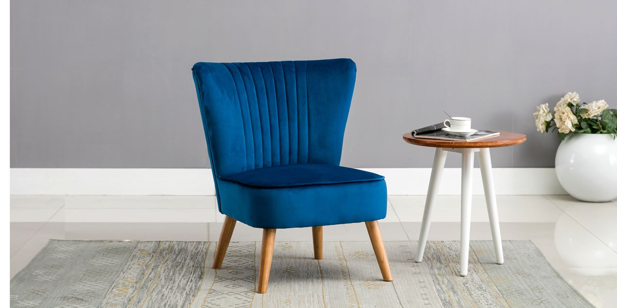 Lydia Accent Chair in Sapphire Blue Velvet IMG