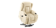 Rockingham Leather Rise Recliner Chair with Massage and Heat in Cream Image 3