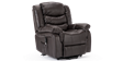 Cheshire Leather Rise Recliner Chair in Brown Image 3