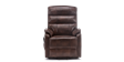 Marlow Leather Rise Recliner Chair in Brown Image 1