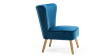 Lydia Accent Chair in Sapphire Blue Velvet Image 2
