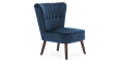 Aylenne Accent Chair in Midnight Blue Velvet Image 2