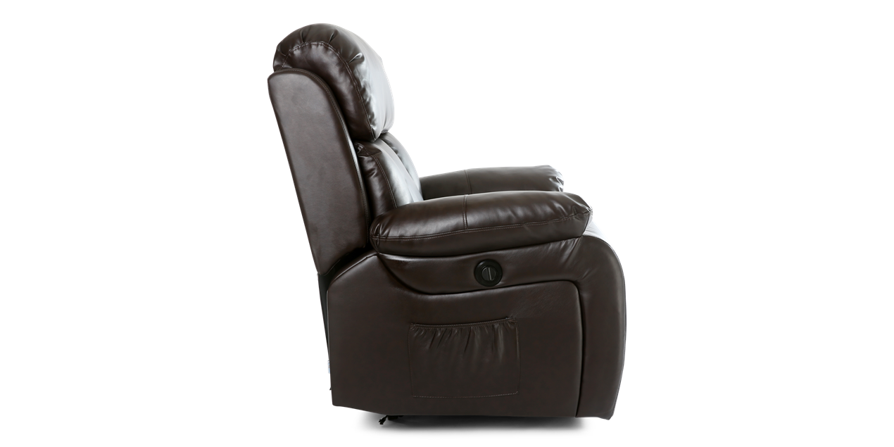Salisbury Leather Electric Recliner Chair With Massage And