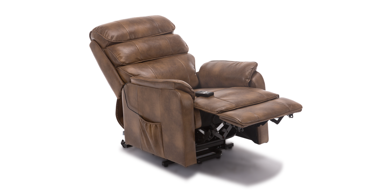 Tremendous Marlow Leather Rise Recliner Chair In Tan Creativecarmelina Interior Chair Design Creativecarmelinacom