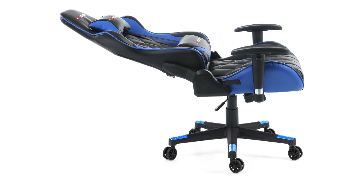 GTFORCE Pro GT Gaming Chair with Recline in Black and Blue IMG