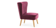 Lydia Accent Chair in Purple Velvet Image 1