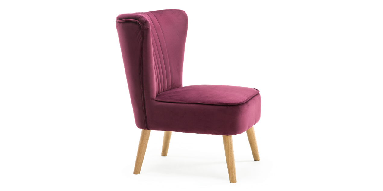 Lydia Accent Chair in Purple Velvet IMG