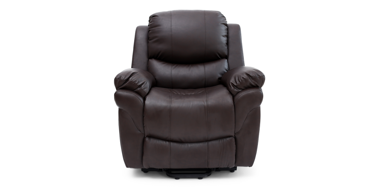 Richmond Rise Recliner Leather Chair in Brown IMG