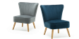 Lydia Accent Chair in Midnight Blue Velvet Image 5