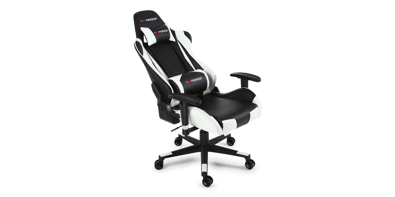 Gtforce Pro Fx Gaming Chair With Recline In Black White