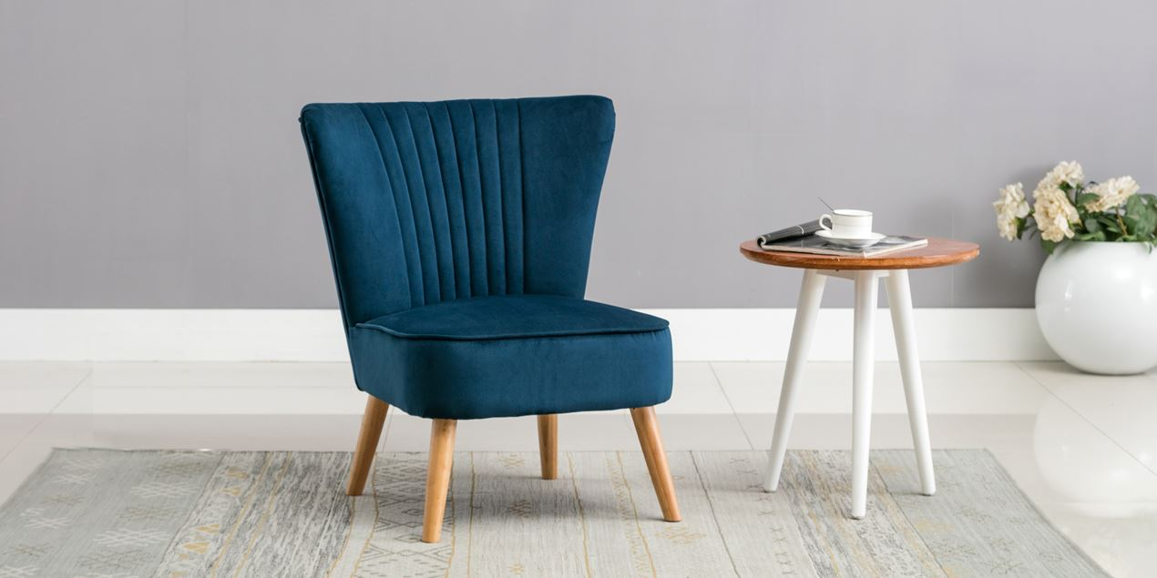 Lydia Accent Chair in Midnight Blue Velvet IMG