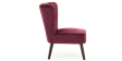 Aylenne Accent Chair in Purple Velvet Image 3