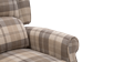 Eden Fabric Recliner Armchair in Beige Tartan Image 1
