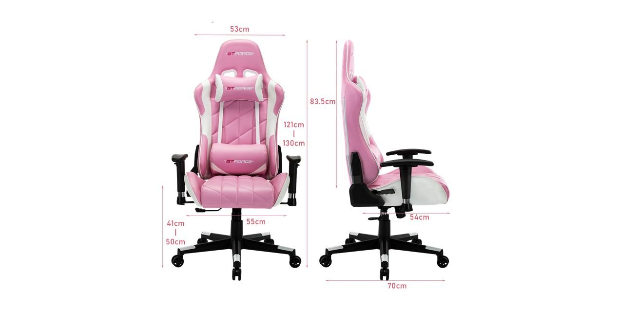 Gtforce Pro Gt Gaming Chair With Recline In Pink