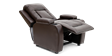 Cameron Leather Push Back Recliner Chair in Brown Image 2