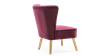 Lydia Accent Chair in Purple Velvet Image 2