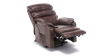 Marlow Leather Rise Recliner Chair in Brown Image 6