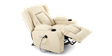 Rockingham Leather Rise Recliner Chair with Massage and Heat in Cream Image 2