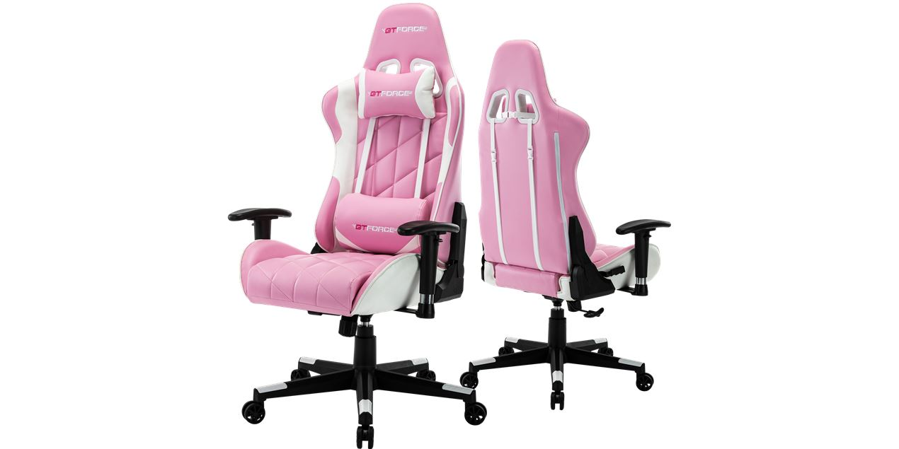Picture of: Gtforce Pro Gt Gaming Chair With Recline In Pink