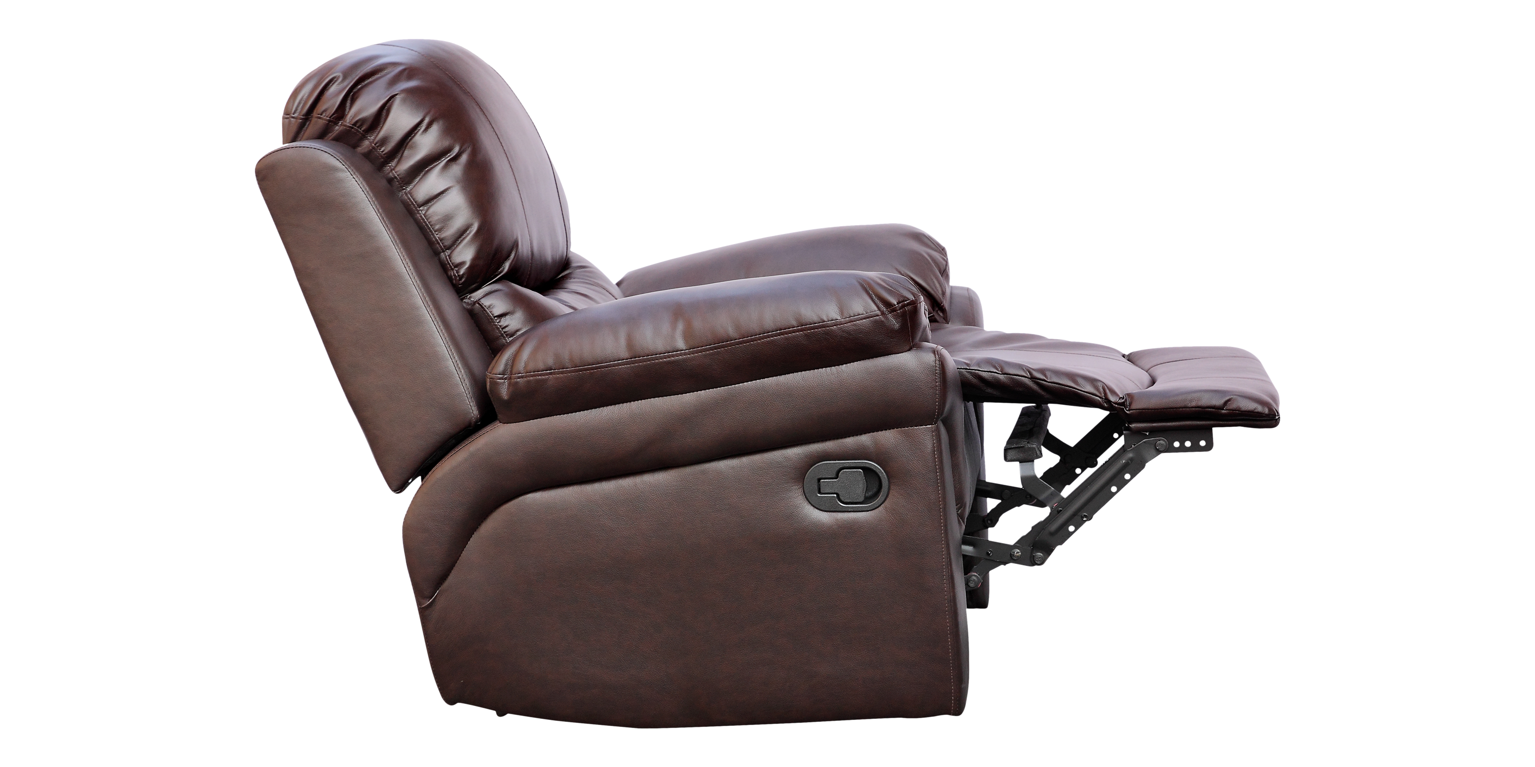 Richmond Manual Recliner Leather Chair In Brown